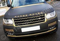 shiny black and gold cars | Black Matt Range Rover Vogue Fully Wrapped In A Vinyl Car