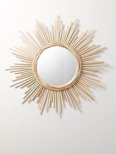 b554b1c35de4dc MIROIR SOLEIL ROTIN ROTIN Miroir Osier, Miroir Mon Beau Miroir, Miroir  Soleil, Deco