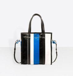 バレンシアガ コピー バザールショッパー S ブラック×ブルー 7090107