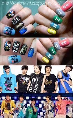 SHINee wardrobe inspired nails