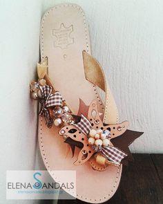 elenas sandals: Σανδάλια 2016 Boho Sandals, Greek Sandals, Fashion Sandals, Shoes Sandals, Heels, Flip Flop Art, Flip Flops, Cute Shoes, Me Too Shoes