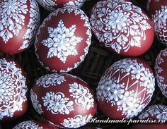 Шаблоны для росписи пасхальных яиц воском, еще один вариант росписи и как создать приспособление из алюминиевой баночки для того, чтобы растопить воск