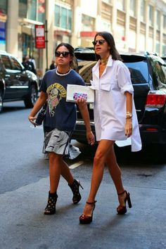 Streetstyle over size white shirt