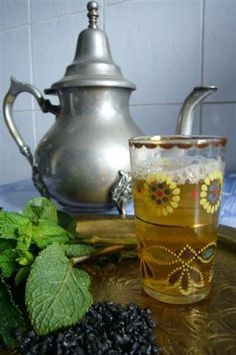 Mint tea, with fresh mint, the way they do it in Northern Africa...I just love the smell..and the taste of it too !