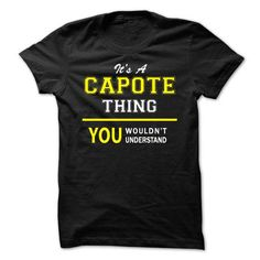 Shopping CAPOTE - Never Underestimate the power of a CAPOTE