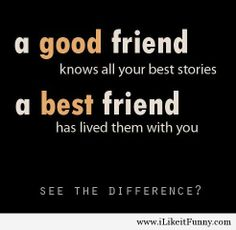Good friend and best friend differences