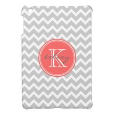 Gray and Coral Chevron Custom Monogram iPad Mini Case in each seller & make purchase online for cheap. Choose the best price and best promotion as you thing Secure Checkout you can trust Buy bestReview          	Gray and Coral Chevron Custom Monogram iPad Mini Case Review on the This ...