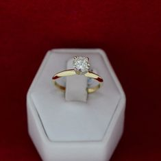 Yellow Gold 0.77ct Diamond Solitaire Engagement Ring – MoneyMan Pawn