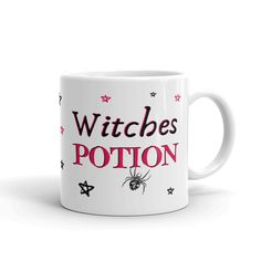 Kids Halloween Mug - Witches Potion Design - Personalised 6oz cup with Child's Name - Halloween Gift Witch Potion, Baby Due, Birthday Mug, Halloween Mug, Baby Gender, Baby Grows, Thank You Gifts, Kid Names, Personalized Baby
