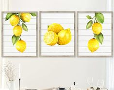 decor diy canvas Watercolor Lemon Wall Art, Kitchen Lemon Prints or Canvas, Lemon Kitchen Decor, Watercolor Lemon Pictures, Vintage Lemon Artwork Set of 3 Kitchen Canvas, Kitchen Artwork, Lemon Pictures, Lemon Images, Lemon Watercolor, Lemon Painting, Watercolor Print, Lemon Kitchen Decor, Yellow Kitchen Decor