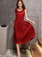 Linen Ethos Slim Sleeveless Dress Cheap Maxi Dresses, Dresses Online, Slim, Shopping, Vintage, Style, Fashion, Swag, Moda