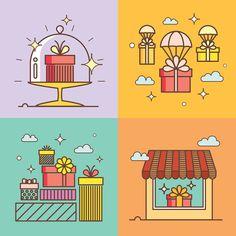 Gift Store Illustration set on Behance