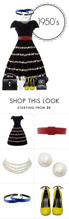 """""""1950's Fashion"""" by supercalifragilistica ❤ liked on Polyvore featuring Jil Sander, Kate Spade and Giuseppe Zanotti"""