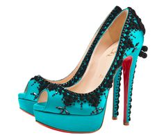 """I'm loving on these Christian Louboutin shoes (""""Torero"""").  Everyone is telling me I'm crazy, but they are calling me!  --Possible wedding shoes... hmmm..."""