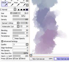 gouache brush paint tool sai - Google-Suche