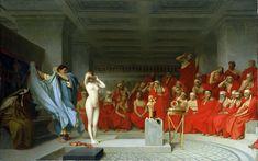 """""""Phryne before the Areopagus"""" (1861) by Jean-Léon Gérôme"""