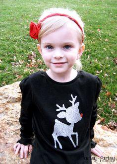 artsy-fartsy mama: DIY Reindeer Shirt
