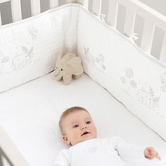 Buy Childrens Bedroom > Nursery > Elephants Appliqued Bumper from The White Company