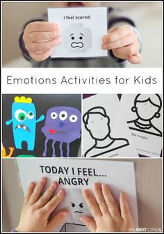 Emotions activities for kids - includes lots of free printables from And Next Comes L