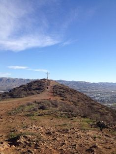 Simi valley, california --- I think I've actually seem that cross while on the freeway...