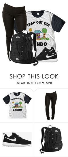 """Trap out tha Bando"" by beautiful-image ❤ liked on Polyvore featuring Bando, Tiger of Sweden, NIKE and The North Face"