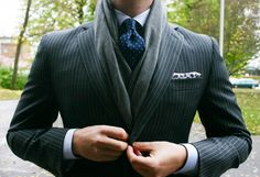 Suit and Scarf