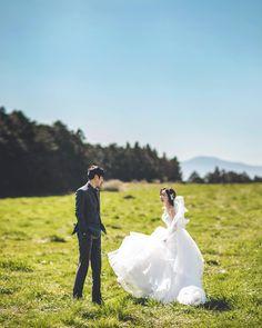 Ghibli Tattoo, Pre Wedding Shoot Ideas, Cute Korean Girl, Korean Couple, Ulzzang Couple, Wedding Places, Island Weddings, Wedding Story, Couple Shoot