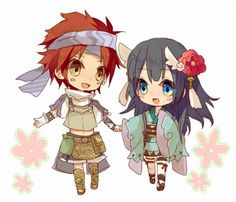 Kyle and Yue from Rune Factory 2