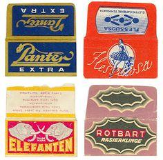 Vintage Razor Packaging
