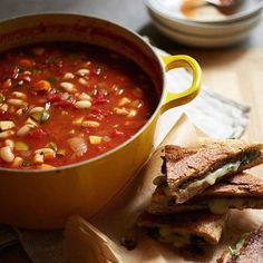 Minestrone Soup Recipe.  Our family's favorite version from Ellie Krieger
