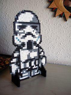 Star Wars Stormtrooper perler fuse beads by BeadxBead