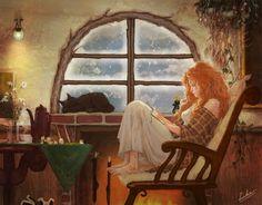 Теплый уютный плед,кресло, книга, горячий чай и тишина вокруг!
