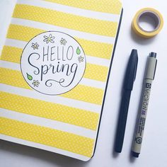 Making a change from my March black & white theme to bring a bright pop of yellow in for spring!