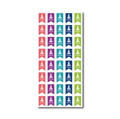 40 Yoga // Die-Cut Stickers (Perfect for Erin Condren Life Planners) ** You can customize in the colors of you choice **