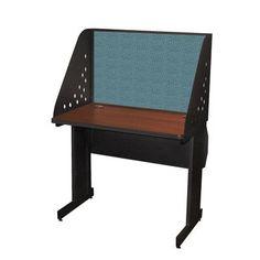 "Marvel Office Furniture Pronto Training Table Finish: Mahogany Laminate/Dark Neutral Finish, Size: 42"" W x 24"" D, Fabric Color: Slate"