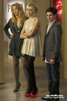 """Serena with Jenny """"Little J"""" Humphrey and her younger brother Eric van der Woodsen...."""