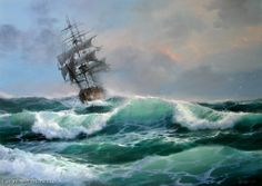 "Sergey Koval ""Seascape-13"" - oil, canvas $2430.00"