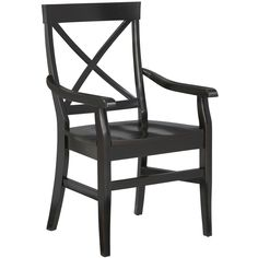Torrance Rubbed Black Dining Armchair