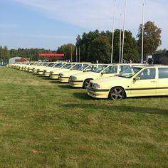 T-Gul träffen 2014 :)  Cream Yellow meet 2014 :) #Tgul #T5R #creamyellow #Volvo #volvoporn #Katrineholm #TMRacing #Volvo850 #Sweden #1995