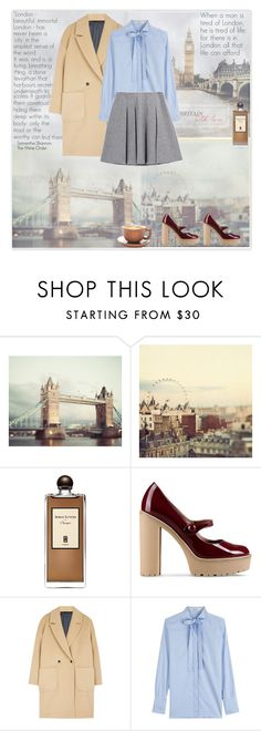 """London Sky"" by olivochka ❤ liked on Polyvore featuring Serge Lutens, RED Valentino, MSGM, Valentino and Fall Winter Spring Summer"