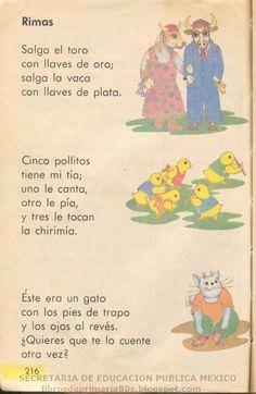 Libros de Primaria de los 80's: Rimas (Libro de primero - Lecturas)