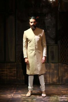 Portfolio of Sabyasachi Mukherjee Sherwani Groom, Wedding Sherwani, Indian Groom Wear, Indian Wear, Indian Wedding Outfits, Indian Weddings, Wedding Dress, Wedding Men, Farm Wedding
