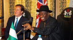 President Goodluck Ebele Azikiwe Jonathan and UK Prime Minister, David William Donald Cameron