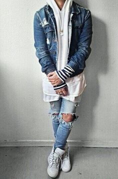Look masculino - Com jeans que está super em alta