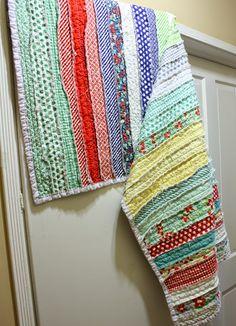 My first quilt. Rag Quilt