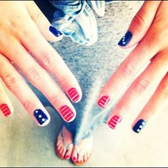 Awesome Nail Art 4th July 2014 Nails Pinterest, Tumblr Designs Pictures, Photos Ideas