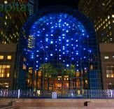 Anne Militello's Light Cycles LED Art Installation Unveiled at the World Financial Center