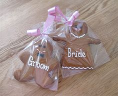 Bride and Groom Gingerbread Men  by The Cakery Leamington | www.thecakeryleamington.co.uk