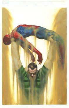 Spider-Man vs Sandman by Gabriele Dell'Otto