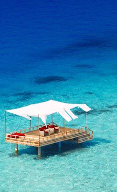 Maldives Yes please!! For me myself and I, and if I felt so inclined I may invite a friend.
